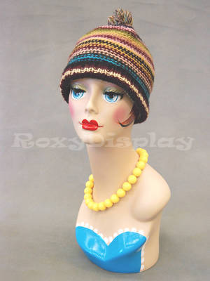 Mannequin Head Bust Wig Hat Jewelry Display #VF001