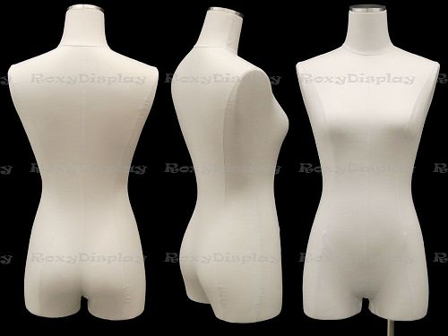 Pure White Female body form with Short Pole Metal Base JF-F1WL+BS-05S