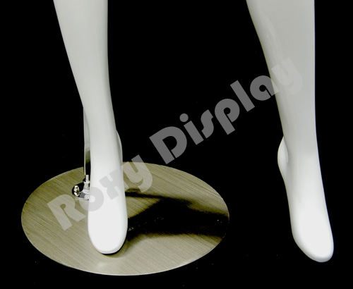 Glossy White color with Arms on the waist and legs open MD-A4BW1-S ROXY DISPLAY Female mannequin headless